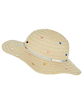 Accessorize Multi Sequin Floppy Hat