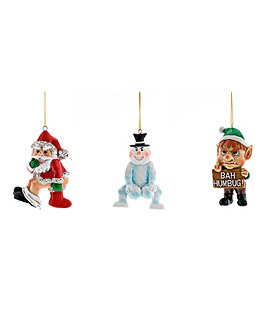 Set of 3 Naughty Novelty Baubles