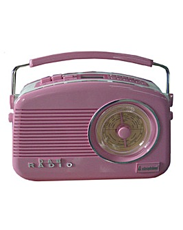 Steepletone DAB Radio Pink