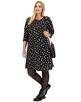 Peach Spot Swing Dress