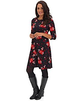 Spot Floral Swing Dress