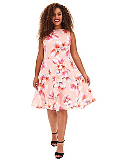 Pink Floral Prom Dress