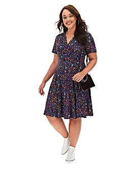 Ditsy Floral Wrap Skater Dress