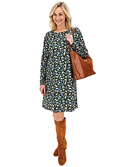 Long Sleeve Floral Swing Dress