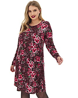 Long Sleeve Floral Print Dress