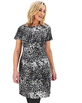 Leopard Ponte Pocket Shift Dress