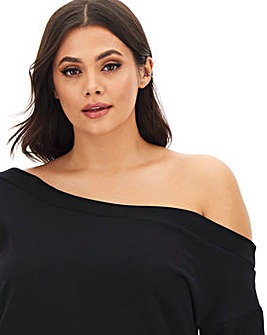 Black Off the Shoulder Tunic