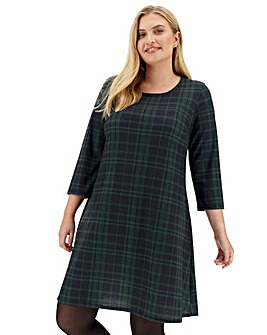 Green Check Swing Dress