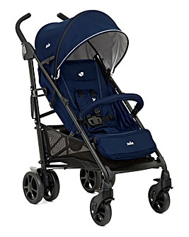 Joie Brisk LX Stroller Including Footmuff & Rain Cover - Midnight Navy