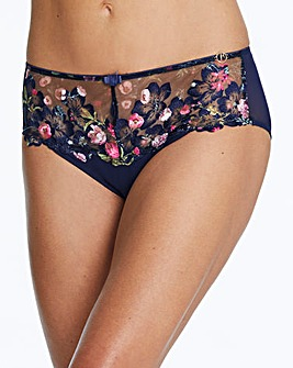 Joanna Hope Navy Embroidered Midi Briefs