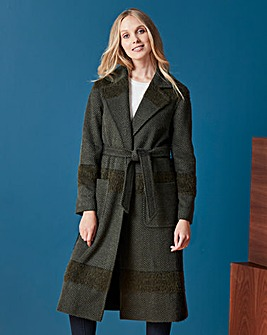 Helene Berman Check Wrap Coat
