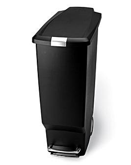 simplehuman 40L Slim Pedal Bin Black
