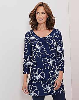 Julipa Floral Print Jersey Tunic