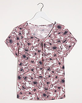 Julipa Pink Floral Short Sleeve T Shirt