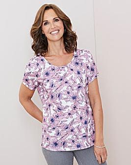 Julipa Pink Floral Short Sleeve T Shirt