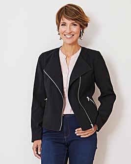 Julipa Suedette Biker Style Jacket