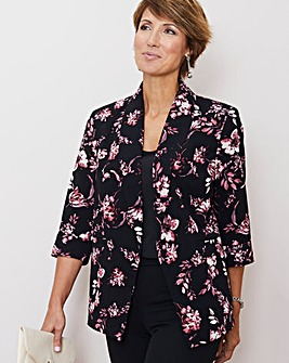 Julipa Print Crepe Lined Jacket