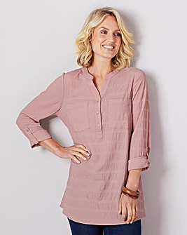 Julipa Two Pocket Textured Check Blouse