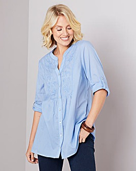 Julipa Embroidered Front Cotton Shirt