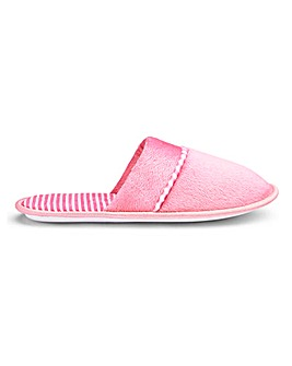 Stripe Detail Mule Slippers E Fit