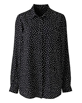 Heart Print Viscose Shirt
