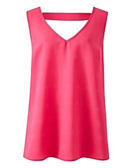 Pink V-Neck Vest with Back Detail