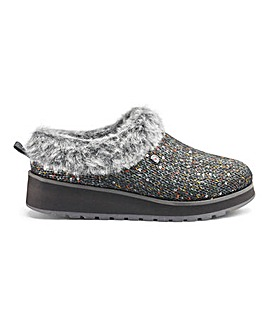 Skechers Ice Angel Glitter Mule Slippers