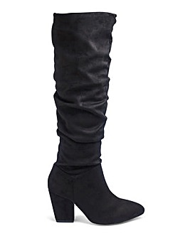 Soft Ruched Boots Wide E Fit Standard Calf