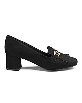 Fringe Detail Block Heel Shoes EEE Fit