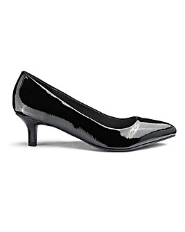 Kitten Heel Court Shoes D Fit