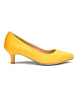 Flexi Sole Kitten Heel Court Shoes Wide E Fit
