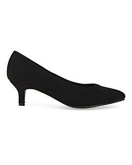 Flexi Sole Kitten Heel Court Shoes Standard D Fit