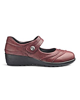 Cushion Walk Touch and Close Bar Shoes Wide E Fit