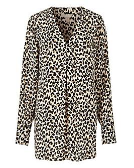 Leopard Print V-Neck Smart Blouse
