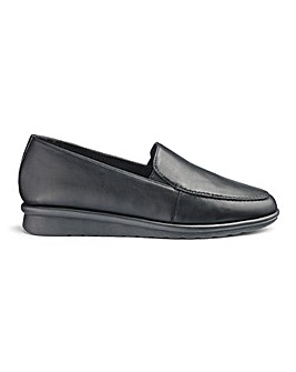 Cushion Walk Twin Gusset Flexible Loafers Wide E Fit