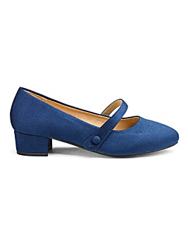 Low Block Heel Mary Jane Shoes EEE Fit