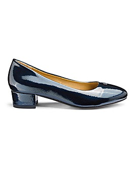 Low Block Heel Slip On Shoes EEE Fit