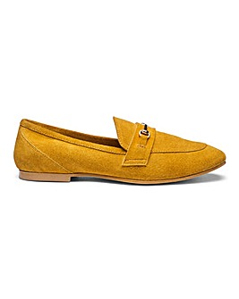 Premium Suede Trim Detail Loafers E Fit