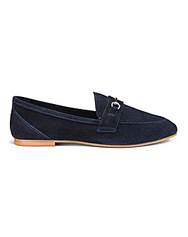 Premium Suede Trim Detail Loafers Wide E Fit