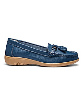Leather Tassel Loafers EEE Fit