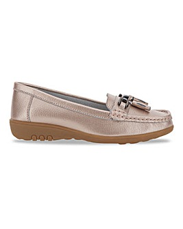 Leather Tassel Detail Loafers Wide E Fit