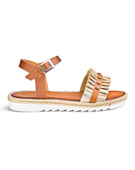 Made In Italy Ruffle Sandals E Fit