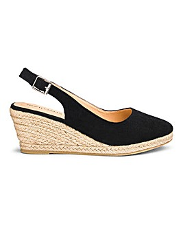 8752d90795a Slingback Wedge Espadrilles E Fit