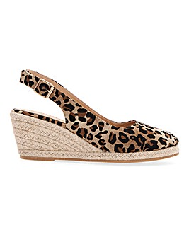 Slingback Wedge Espadrilles E Fit
