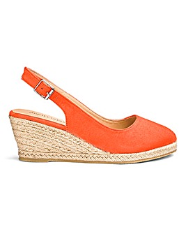 Slingback Wedge Espadrilles EEE Fit