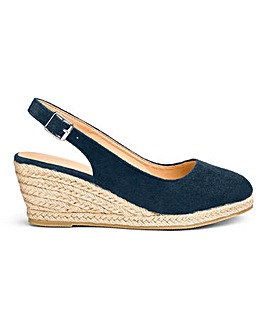 Wedge Espadrille Slingback Sandals Extra Wide EEE Fit