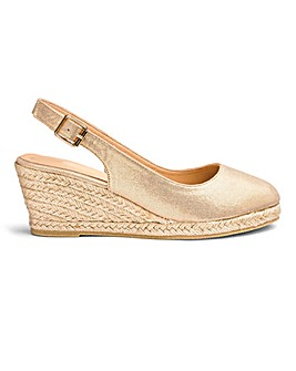 Wedge Espadrille Slingback Sandals Wide E Fit