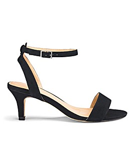 Kitten Heel Strappy Sandals EEE Fit