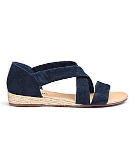 cd61eb1451f Soft Strap Espadrille Sandals EEE Fit