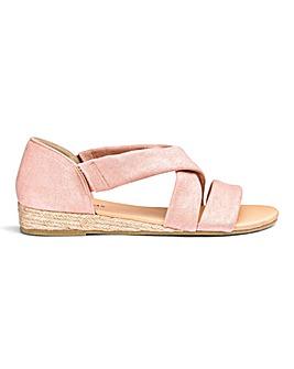 Soft Strap Espadrille Sandals E Fit